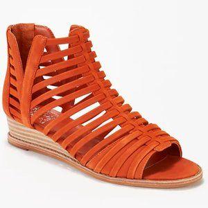 Vince Camuto Revey Wedge Sandal Orange-NWOT-Sz 9.5